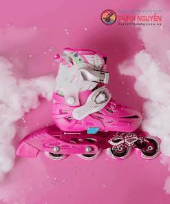 Giày trượt patin flyting eagle s6 dành cho trẻ em màu hồng